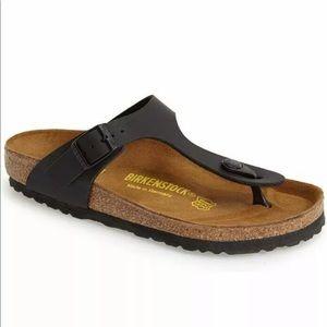 Size 6 / 37 Birkenstock Gizeh Black Sandals